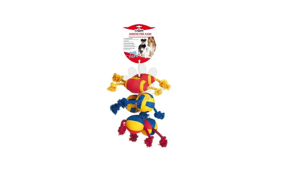 Camon Sports balls on a plait - кучешка играчка, подходяща за големи и гигантски породи 24 см.