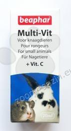 Beaphar Multi Vit - мултивитамини за зайци и други дребни животни 20 мл.