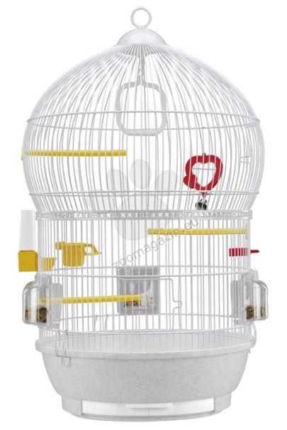 Ferplast - Bali White - клетка за малки птички с пълно оборудване 43.5 / 68.5 см.