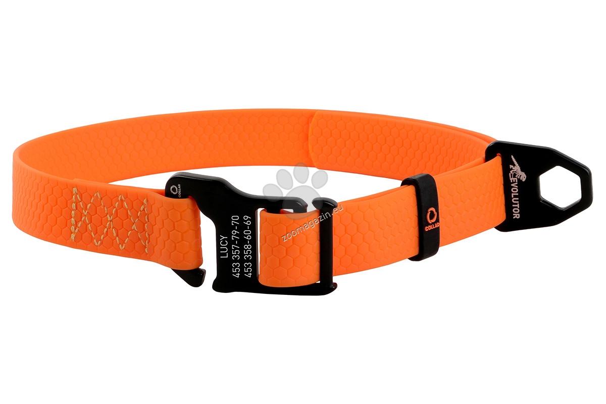 COLLAR EVOLUTOR - най издръжливият нашийник в Европа 25 - 70 см. / 25 мм. / оранжев, черен /