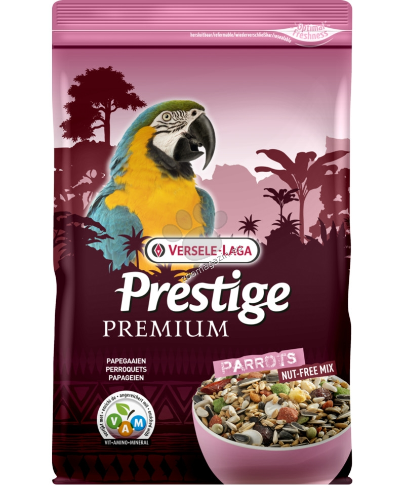 Versele Laga - Premium Prestige Parrot - пълноценна храна за големи папагали 15 кг.