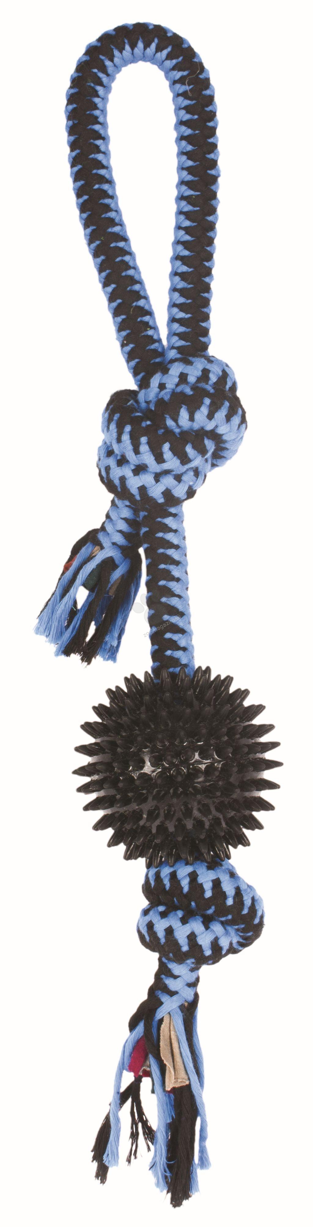 M-Pets Twist - топка с въже 14 см. / синя, червена, жълта /