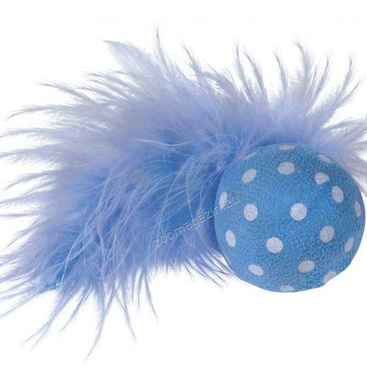 Nobby Ball with rattle - топче с пера 4 см.
