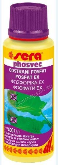 Sera - Phosvec - унищожава разтворените фосфати (PO4) във водата незабавно и дълготрайно 100 мл.
