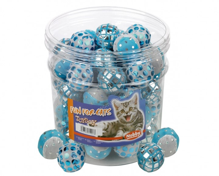 Nobby Glitzerball, blau-weiß - топче 4 см.