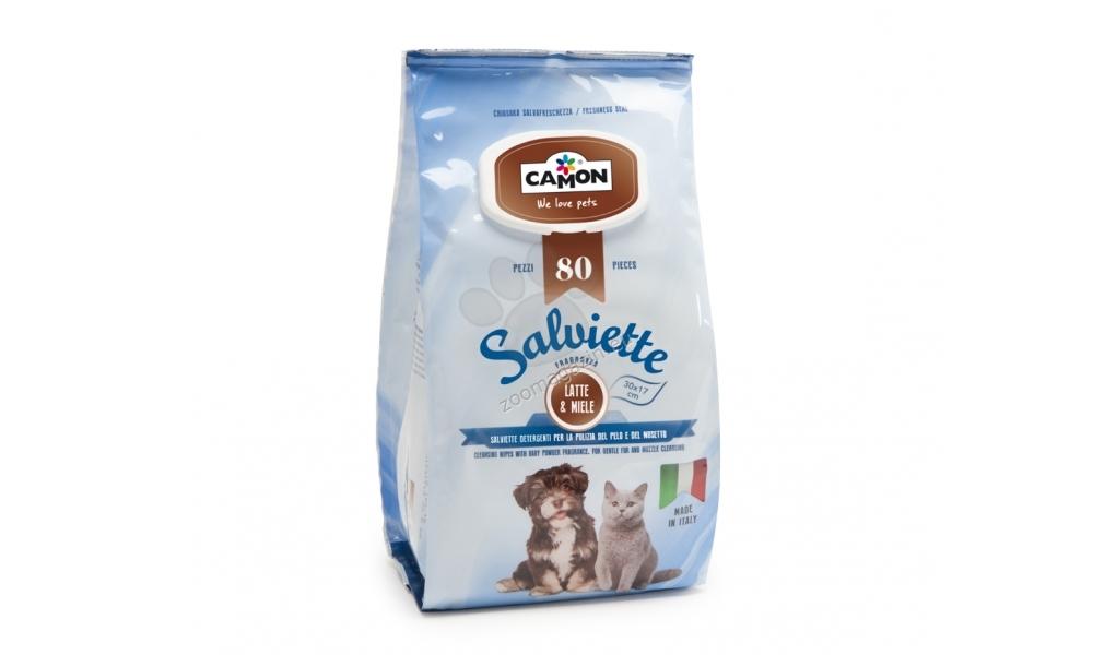 Camon Salviette - υγρά μαντηλάκια με αρώματα μελιού και γάλακτος 80 τεμ