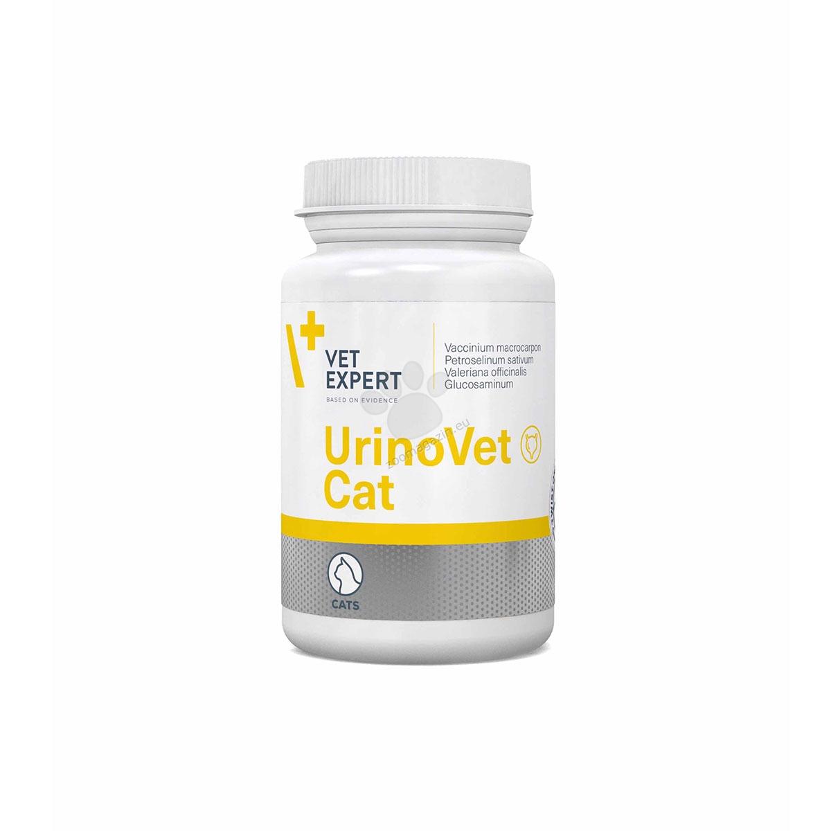 Vetexpert - UrinoVet Cat - цялостна превенция срещу проблеми на уринарния тракт 45 капсули