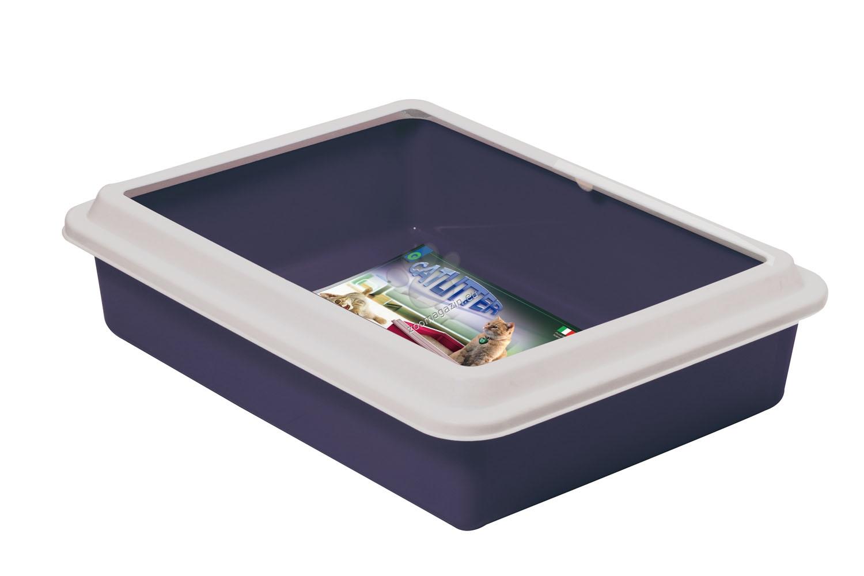 Georplast - Max - открита котешка тоалетна с борд 43.5 / 34 / 11 см. / розова, синя, сива, черна /