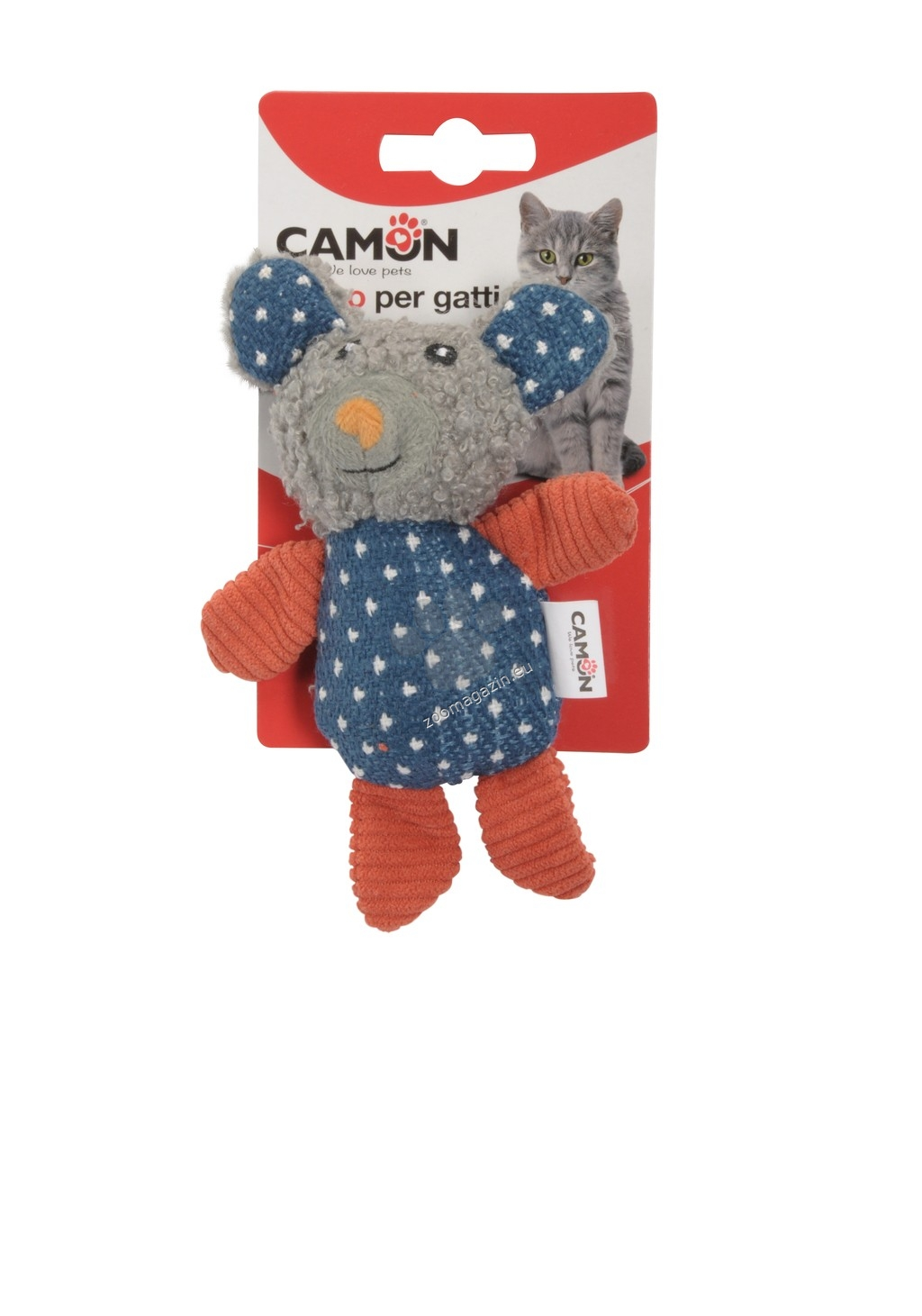 Camon Cat toy with catnip - Big mouse - котешка играчка