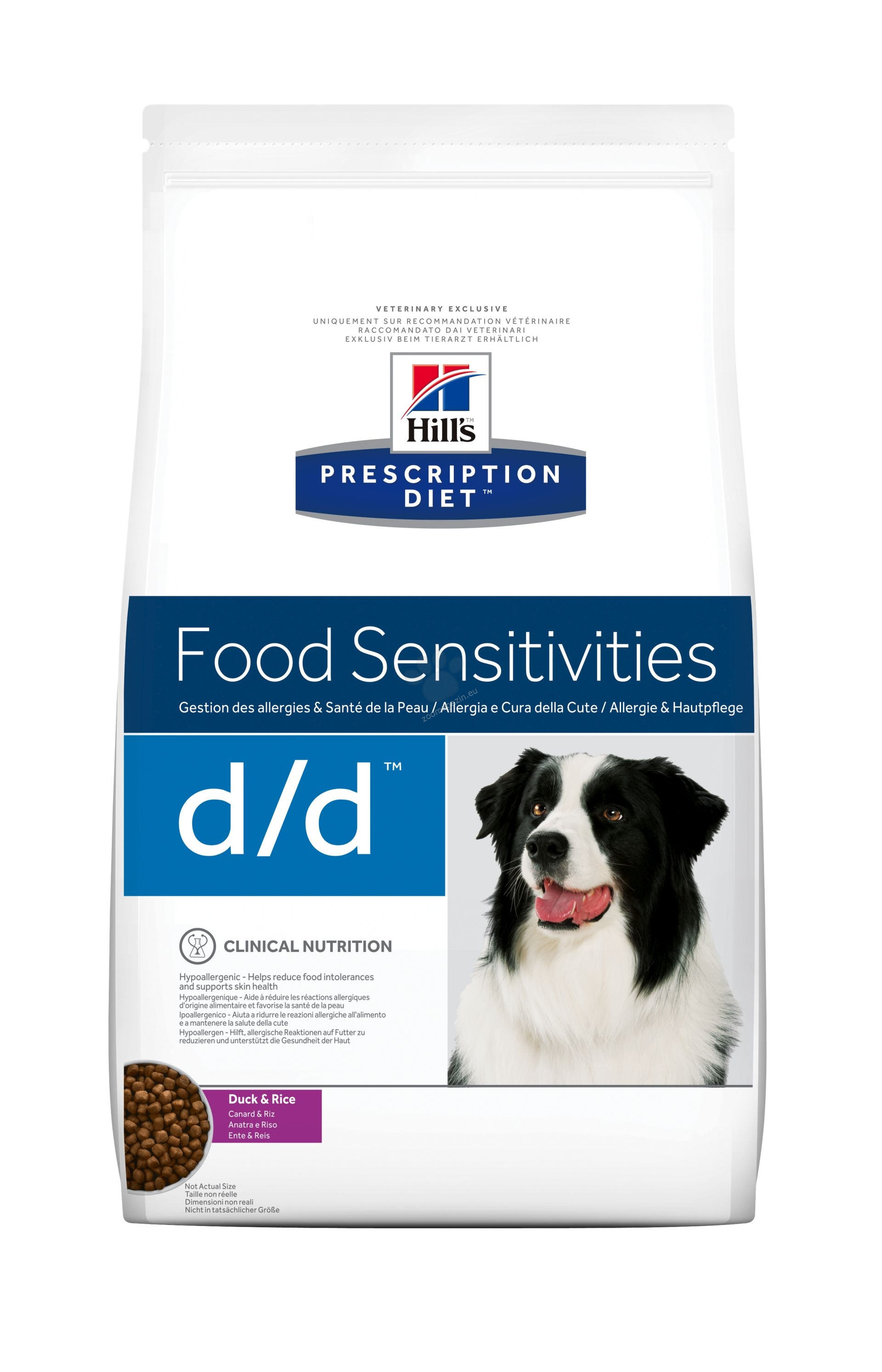 Hills Prescription Diet d/d Canine Duck&Rice - хранителни алергии 2 кг.