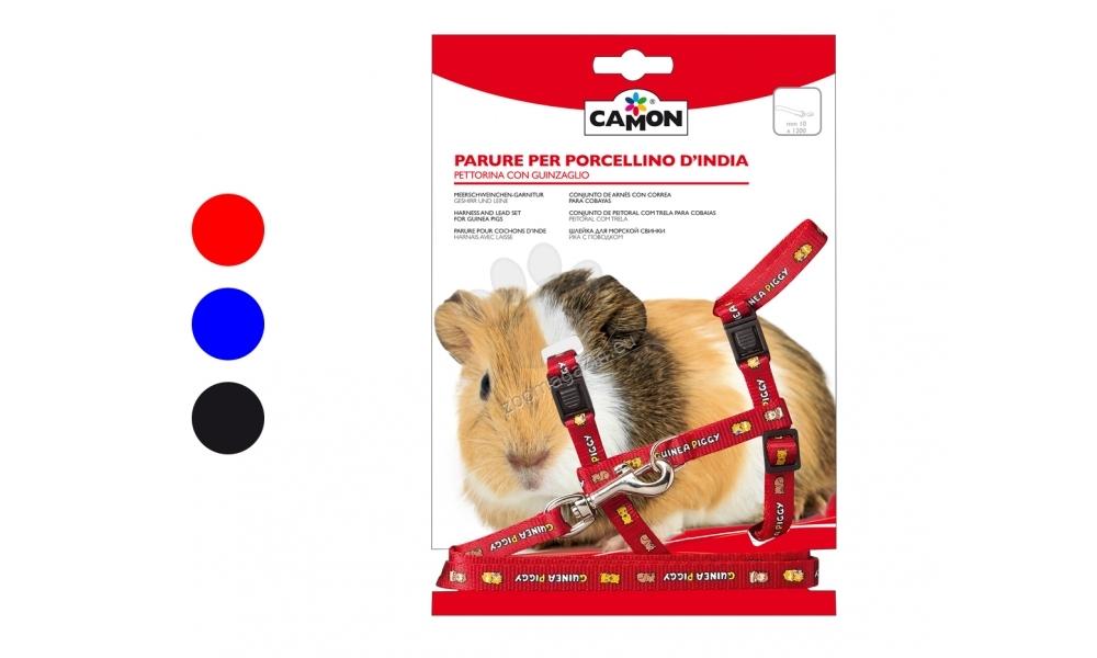 Camon Guinea pig - повод с нагръдник за морско свинче / син, черен, червен /