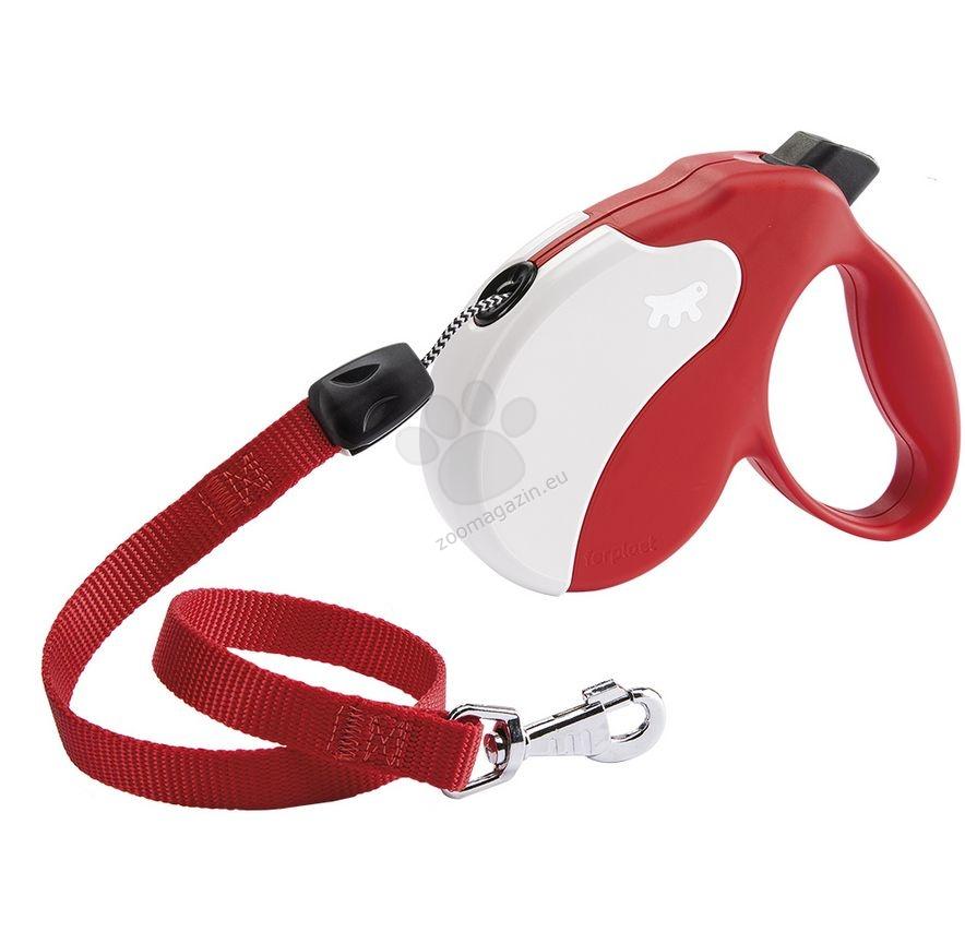 Ferplast - Amigo Cord L Red White - 5 метра въже, за кучета с тегло до 50 кг.