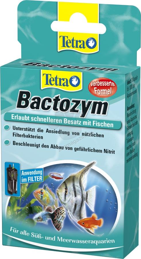 Tetra - Bactozym - осигурява незабавно биологична активност във филтъра и аквариума 10 бр. таблетки