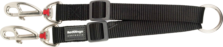 Red Dingo Coupler Lead Classic Black S - повод за две кучета 15 мм. / 20 - 26.5 см.