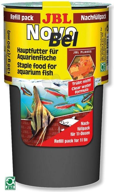 JBL NovoBel - пълнител, основна храна за всички декоративни рибки  130 гр.