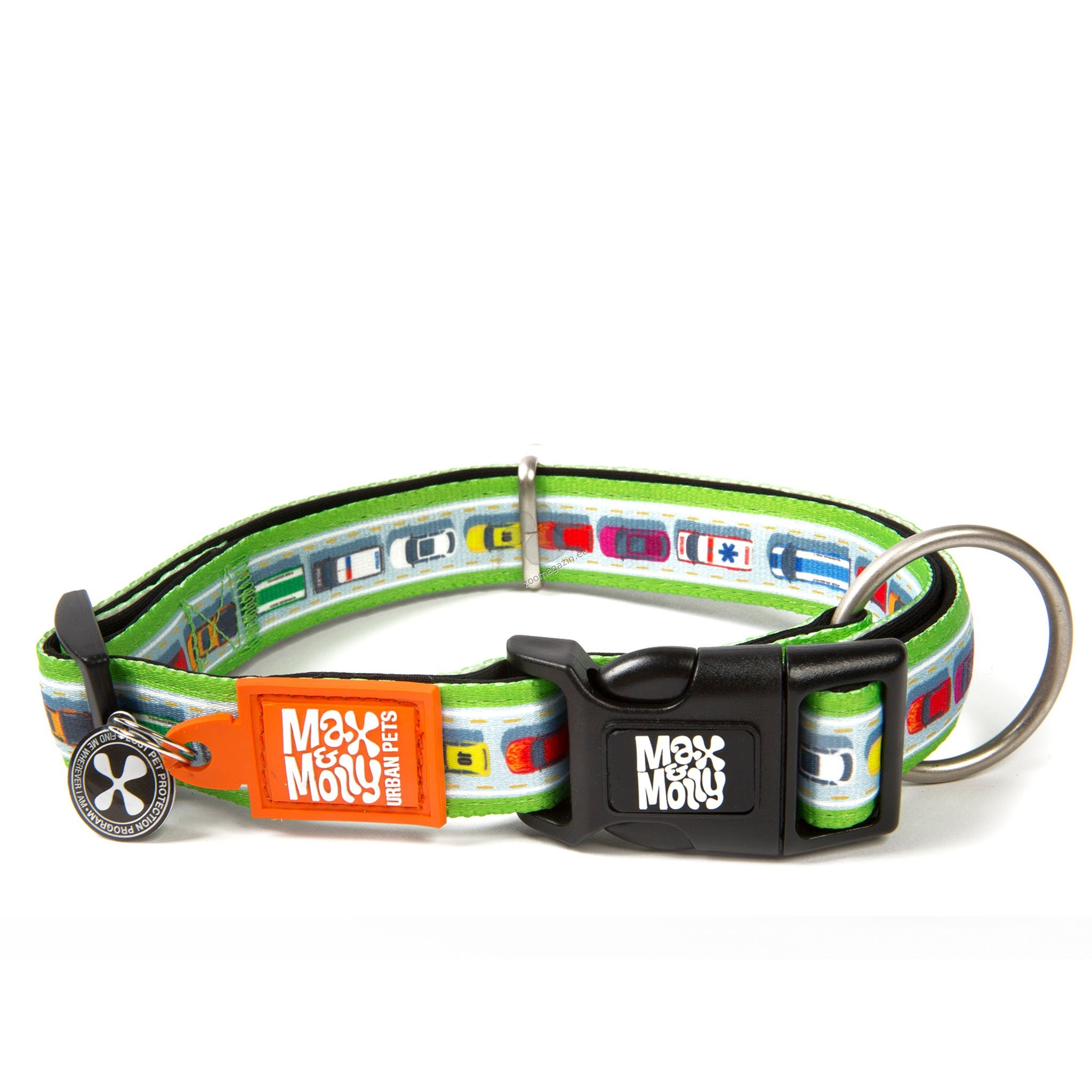 Max Molly Smart ID Traffic Jam M - нашийник с ID чип за сигурност 34 - 55 см. / 20 мм.