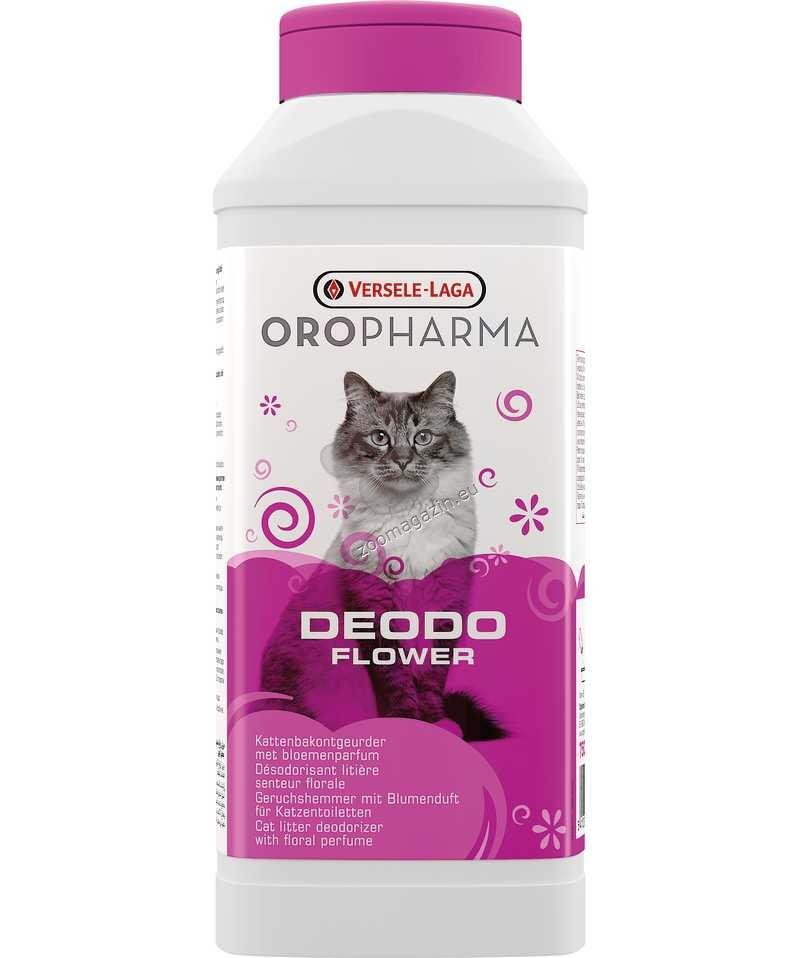 Versele Laga - Oropharma Deodo Odour Control Flower - деодорант на прах за котешка тоалетна със свеж аромат на цветя 750 гр.
