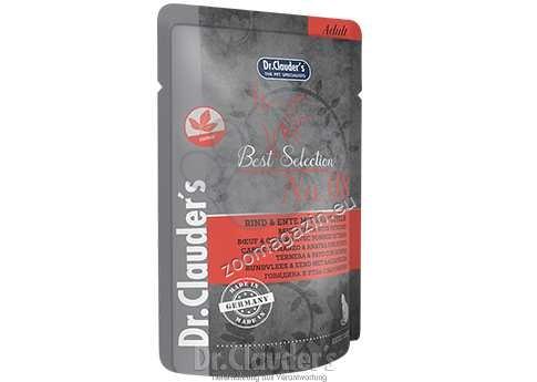 Dr.Clauder Best Selection N8 - премиум храна с патешко месо, говеждо месо и картофи 85 гр.