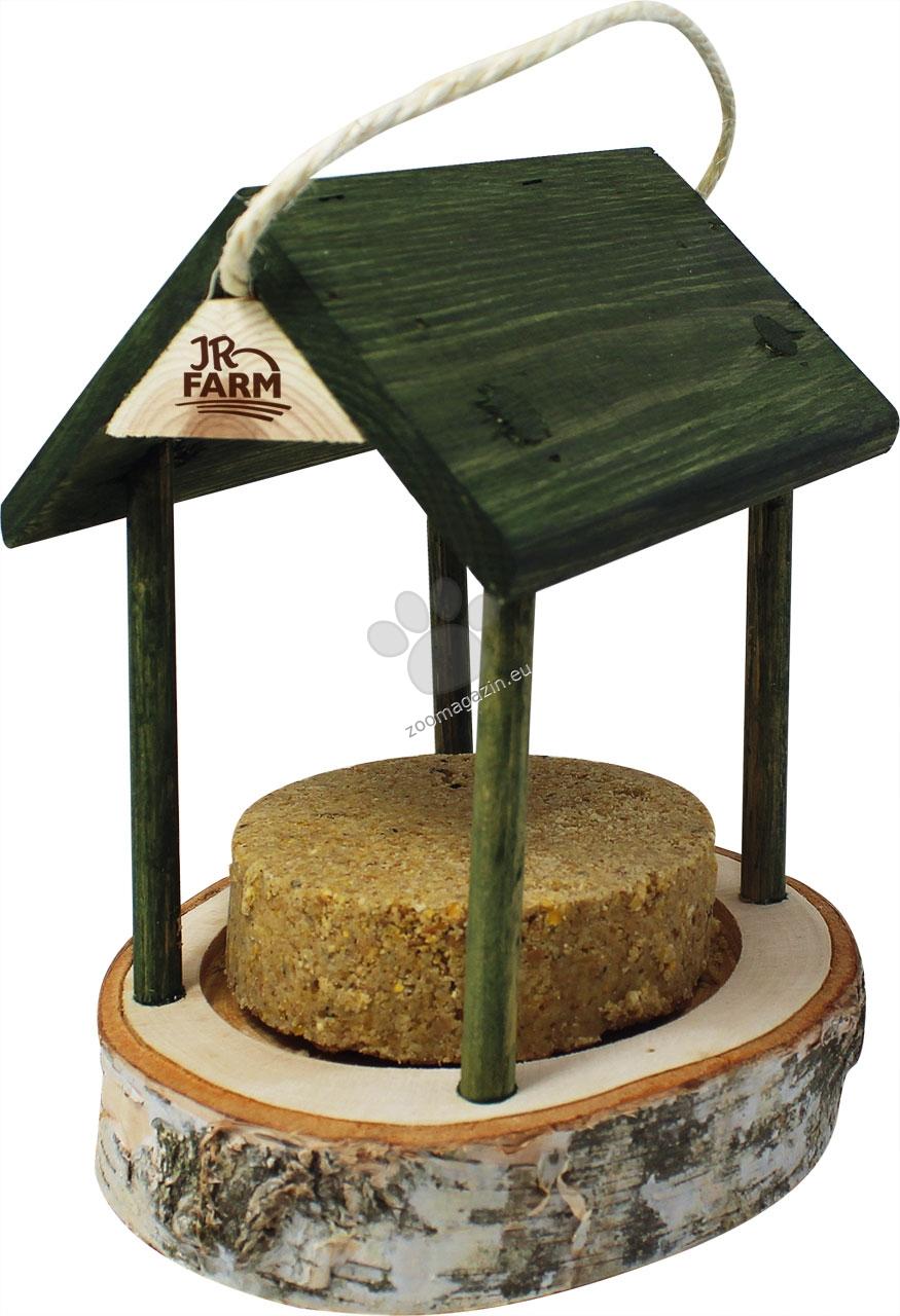 JR FARM Peanut Ring Peanut-Cottage incl. Refill - Къща от естествено дърво с пълнеж от фъстъчено масло