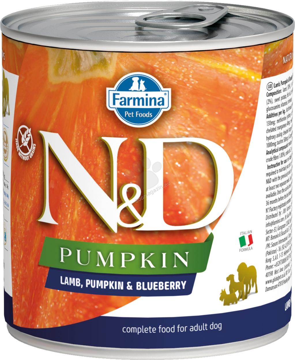 N&D Dog Lamb & Pumpkin & Blueberry - с агнешко месо, тиква и боровинки 285 гр.