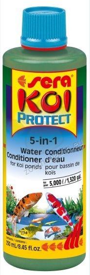 Sera - Koi Protect -  защитава мукусните мембрани на вашите благородни Кои и други студеноводни рибки 250 мл.