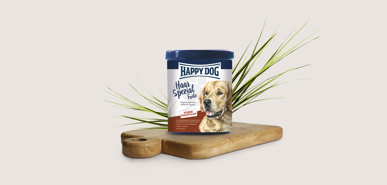 Happy Dog Haar Spezial Forte - за стимулиране на здрав растеж на косъма, за подпомагане смяната на козината, с уникална комбинация от активни съставки 700 гр.
