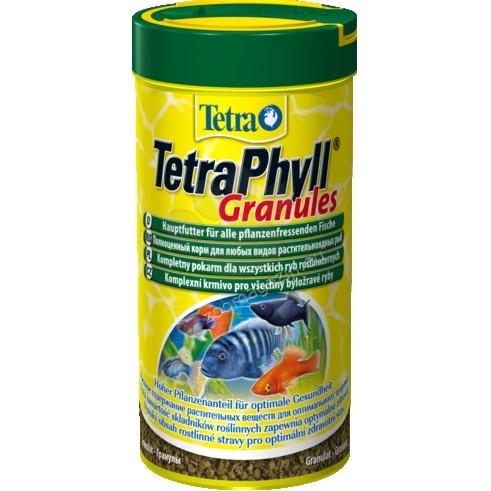 Tetra - ТеtraPhyll Granules - храна за тревопасни тропически рибки 250 мл.