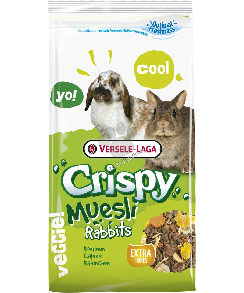 Versele Laga - Crispy Muesli Rabbits - пълноценна храна за декоративни зайци 1 кг.