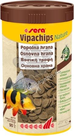Sera Vipachips Nature - храна за придънни рибки 100 мл.