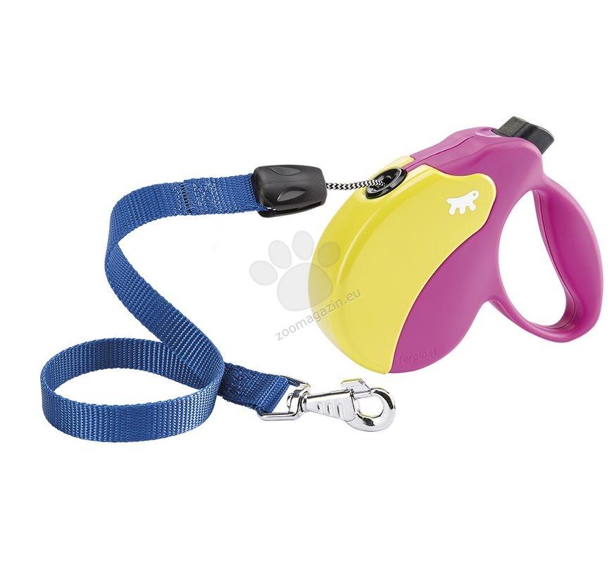 Ferplast - Amigo Colours Cord S Fux Yellow - 5 метра въже, за кучета с тегло до 15 кг.
