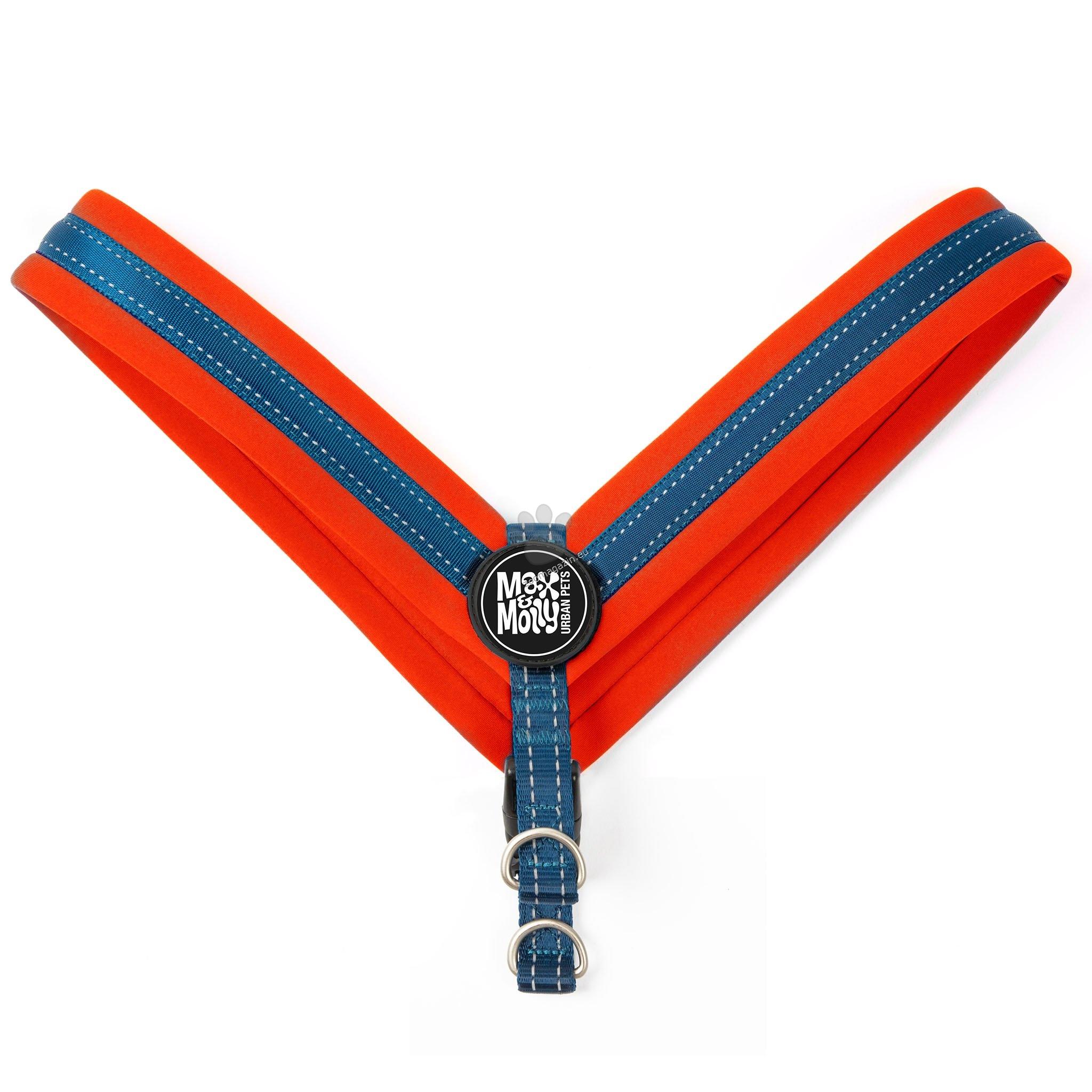 Max Molly H-Harness Q-Fit Red M - нагръдник за кучета с обиколка на гърдите 37 - 42 см.
