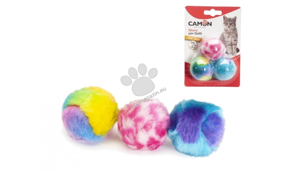 Camon Balls with bell - пухени дрънкащи топчета 3 см., 3 броя