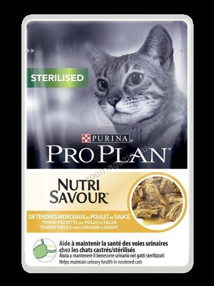 Pro Plan Nutri Savuor Sterilised - / с пилешко месо / за кастрирани котки в зряла възраст 85 грама