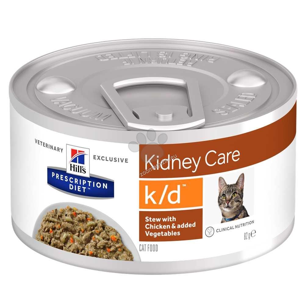 Hills Prescription Diet STEW k/d Feline задушено с пилешко и зеленчуци - при бъбречна недостатъчност 82 гр.