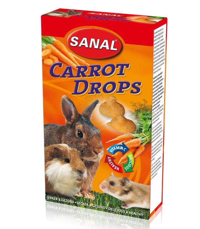 Sanal Rodent Carrot Drops - деликатесно лакомство с моркови 45 гр.