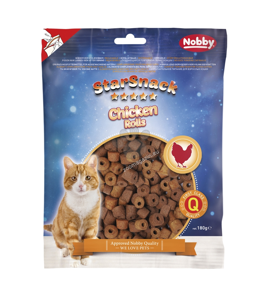 Nobby StarSnack Chicken Rolls - котешко лакомство 180 гр.