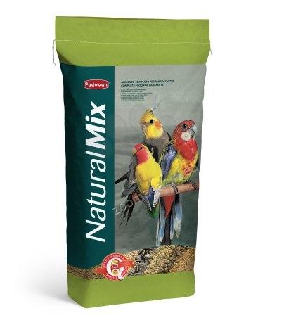 Padovan Naturalmix - комплексна и висококачествена храна за средни папагали 20 кг.