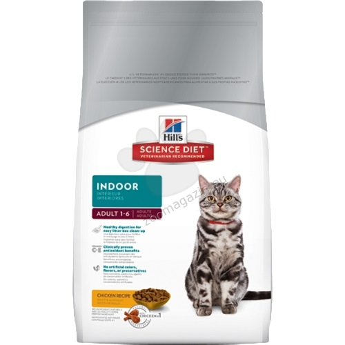 Science Plan Feline Adult Indoor Cat Chicken - За котки живеещи само у дома 4 кг. + ПОДАРЪК: 1 кутия x 12 пауча Adult FAVOURITE SELECTION