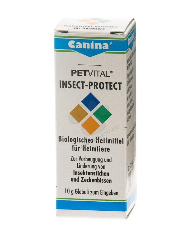 Canina Petvital Insect-Protect - хомеопатичен продукт за защита от ухапвания от насекоми и кърлежи, 10 грама /1200 глобули/