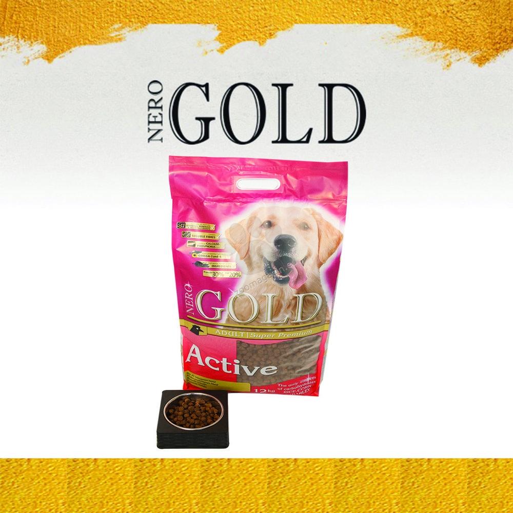 Nero Gold Active - пълноценна храна за кучета над 12 месечна възраст, подходяща за работни и отглеждани на открито кучета 12 кг.