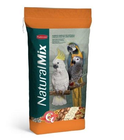 Padovan NaturalMix Pappagalli - пълноценна храна за постигане на здравословен растеж на големите папагали 18 кг.