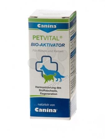 Canina Petvital Bio-Activator - хранителна добавка за кучета и котки, 20 аминокиселини и микроелемента, 20 мл