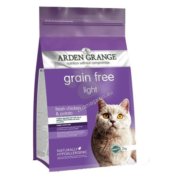 Arden Grange - Adult Light Chicken Garin Free - с пилешко месо и картофи, за кастрирани котки над 12 месеца 2 кг.