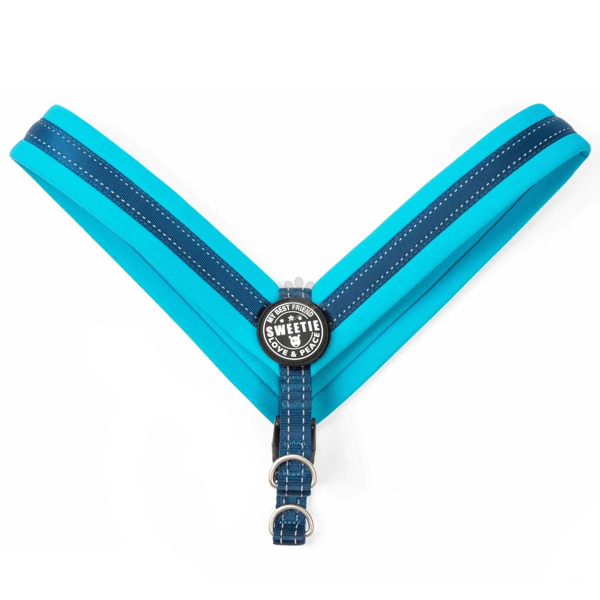 Max Molly H-Harness Q-Fit Blue XXS - нагръдник за кучета с обиколка на гърдите 25 - 29 см.