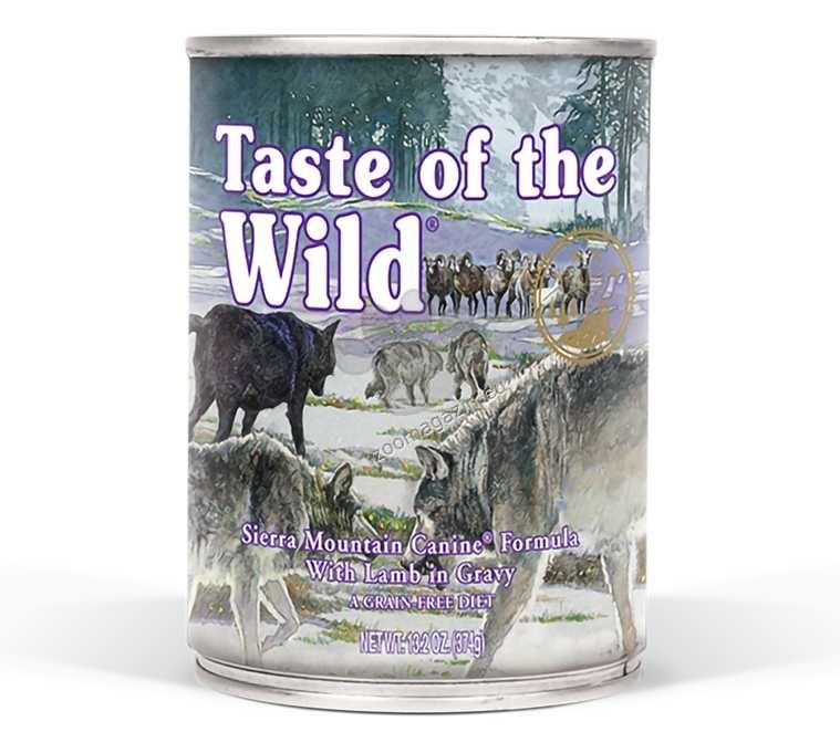 Taste of The Wild Sierra Mountain Canine Formula - с прясно агнешко месо в сос грейви 395 гр.