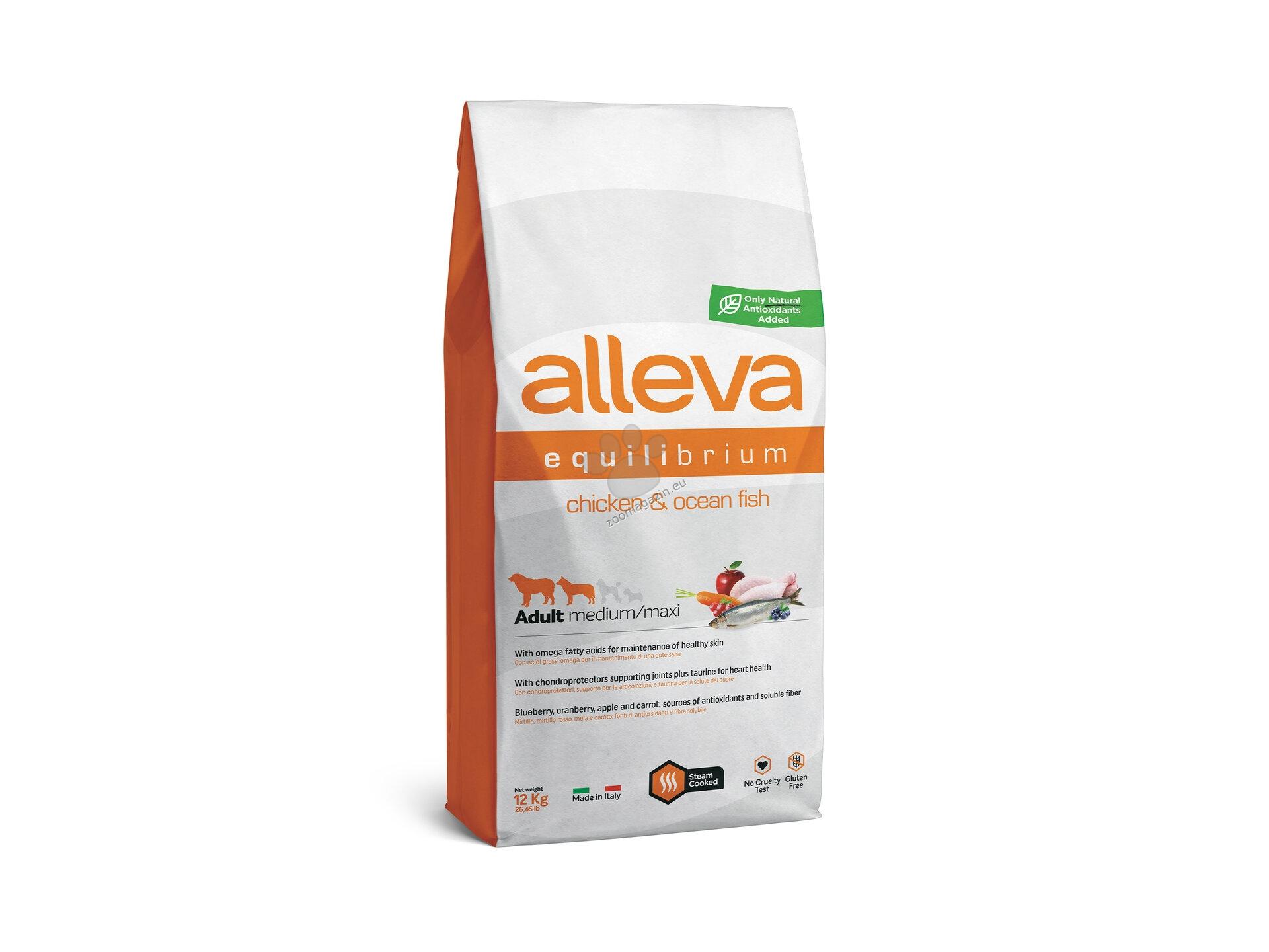 Alleva Equilibrium All Day Maintenance Chicken & Ocean Fish Adult Medium/Maxi - с пилешко и океанска риба, за кучета средни /10-25 кг. / и големи / над 25 кг. / породи и възраст над 12 месеца 2 кг.