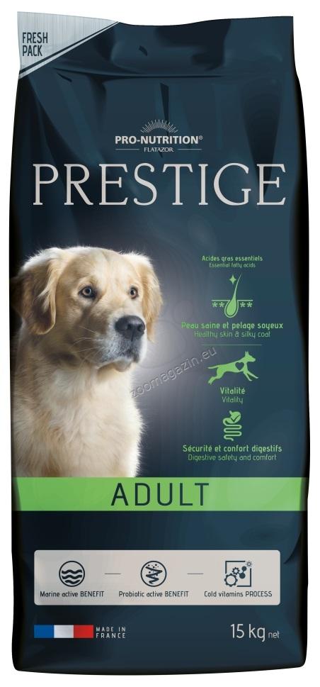 Flatazor Prestige Adult - пълноценна храна за кучета средни породи 1 до 7 години  15 кг. + 3 кг. ГРАТИС