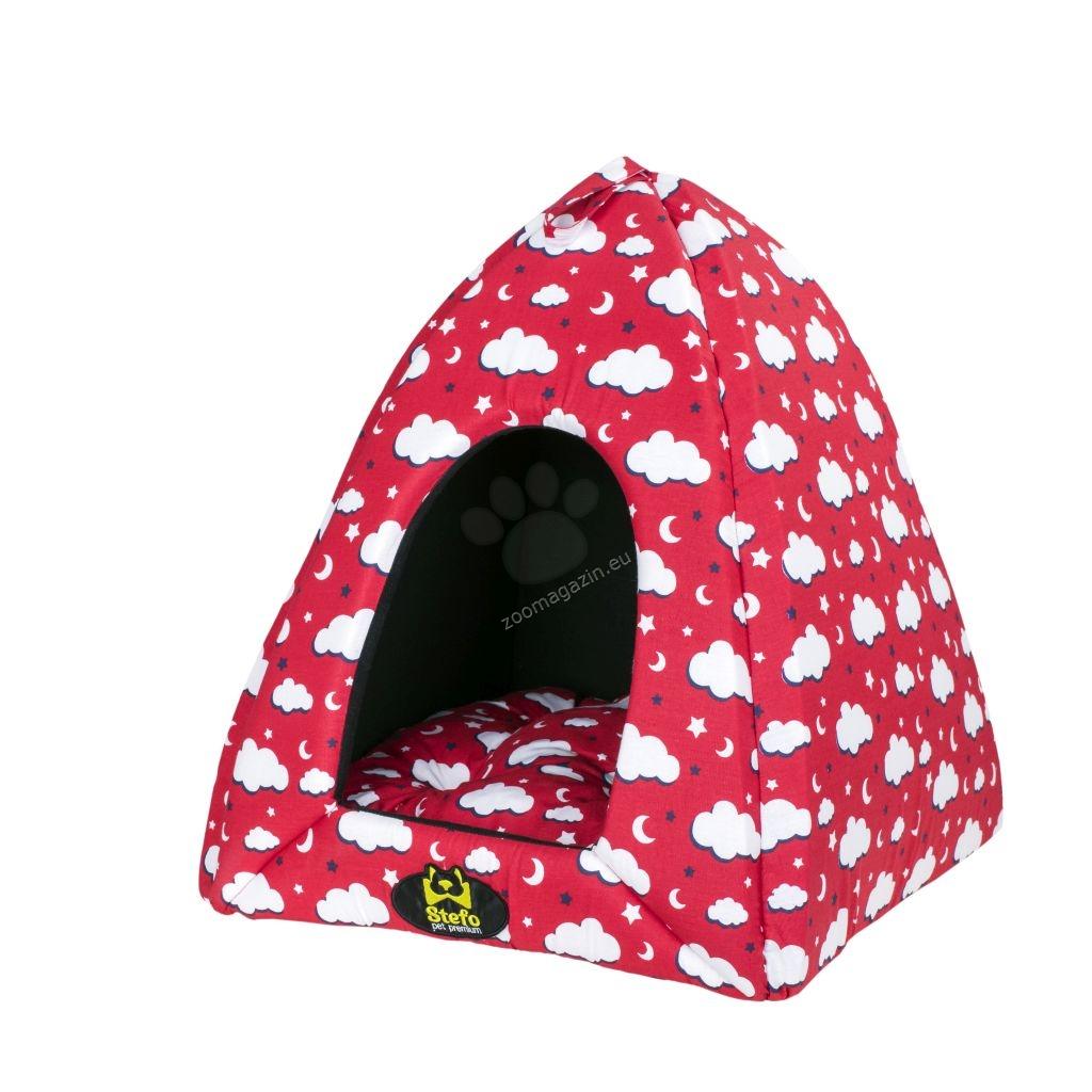 Stefo Iglu - мека къщичка с махаща се възглавница 60/60/65 см /розова, жълта, червена, синя, сива/