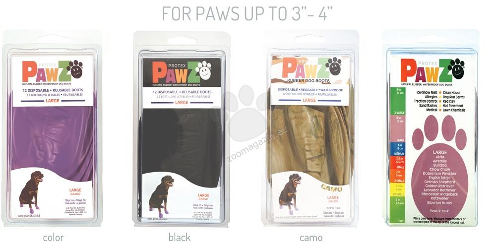 Pawz Large Camo - каучукова водоустойчива обувка за кучета с дължина на лапата до 10 см, 1 брой