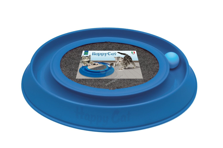 Georplast - Happy Cat - драскалка с играчка 41 / 38 / 5 см. / лилава, синя, сива, черна /